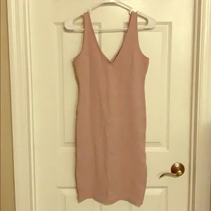 WORN TWICE Forever 21 Pink Blush Bodycon Dress!